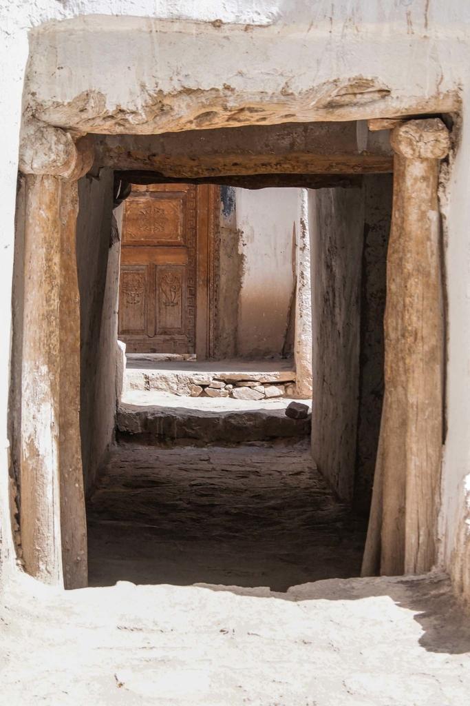 Doorgang door Chorten, Ladakh