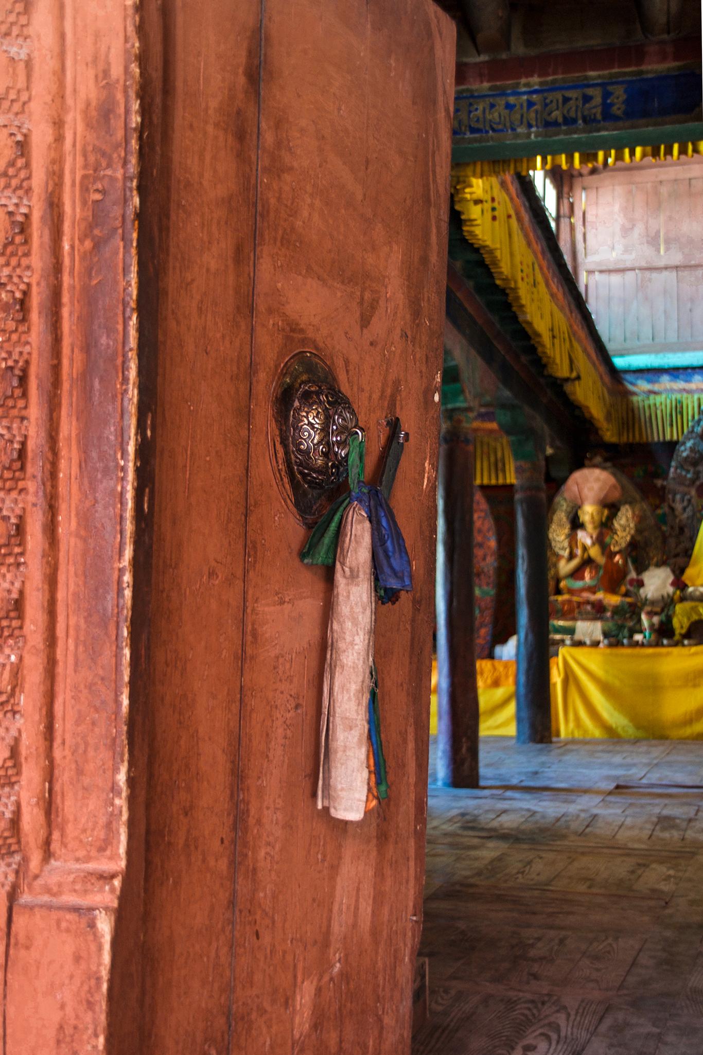 Deur boeddhistisch klooster Ladakh 3.11.3 _DSC0923