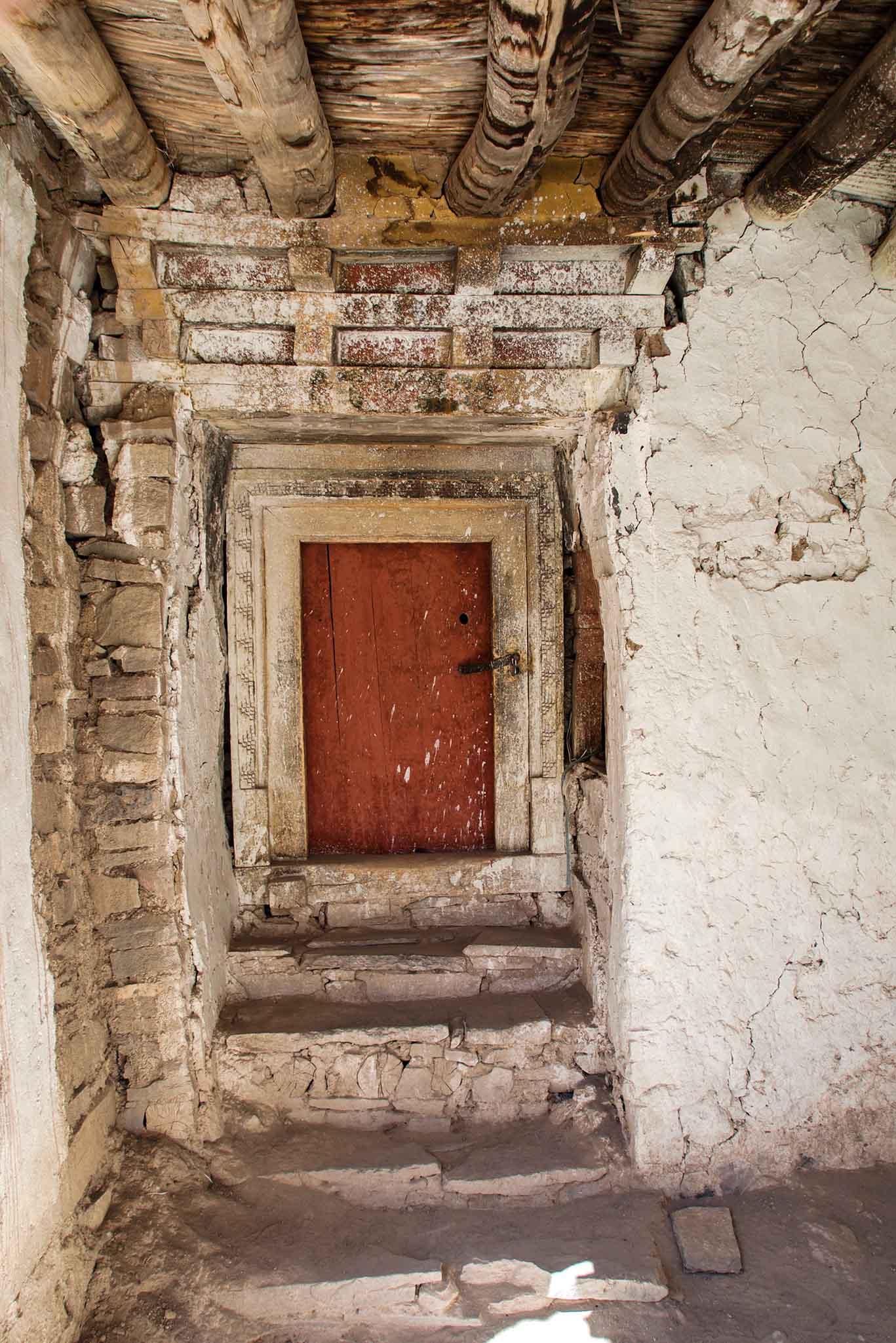 Deur boeddhistisch klooster Ladakh 3.11.5 _DSC0969