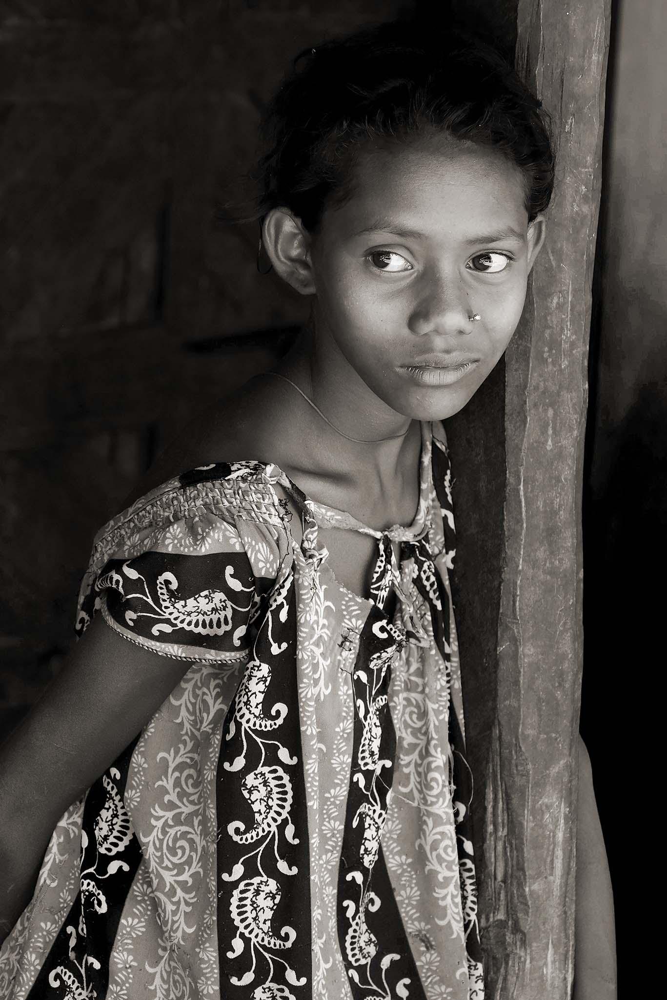 Adivasi meisje, Odisha 3.3.3 DSCF7431