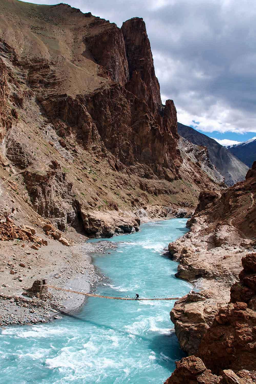 gammele brug over Zanskar rivier