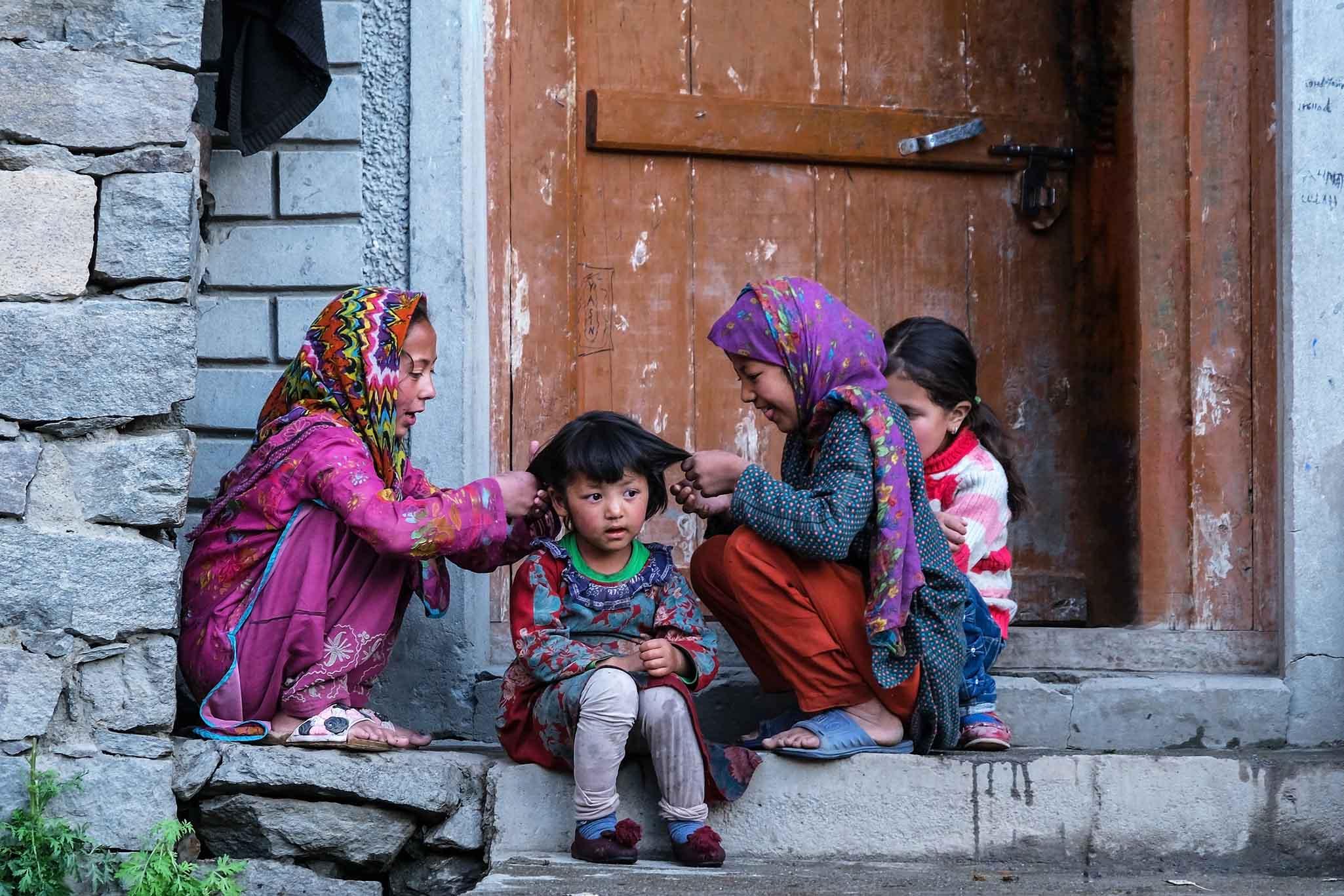 Kinderen Turtuk Ladakh 3.9.4 DSCF9194