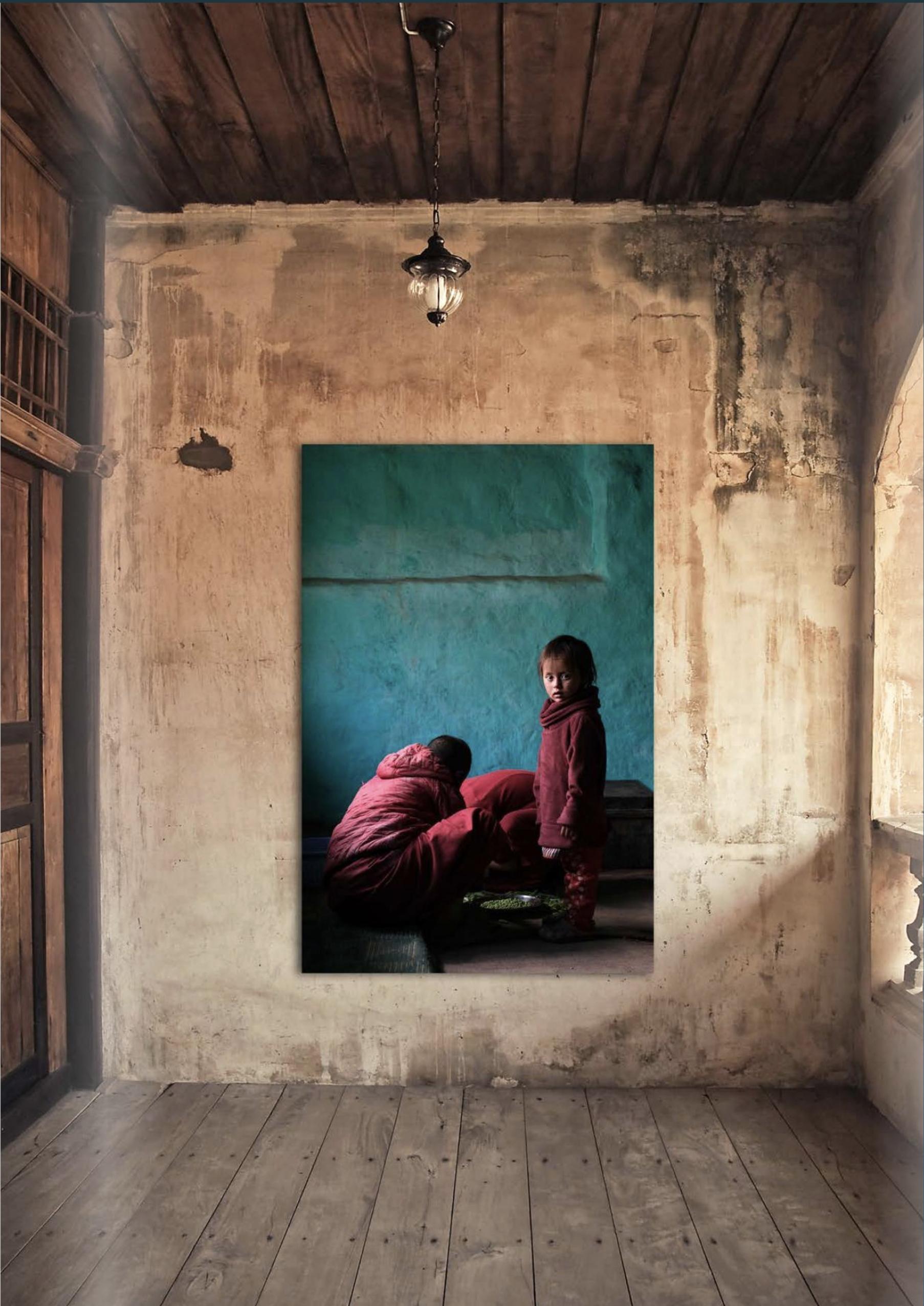 Kindnon in nonnenklooster Ladakh
