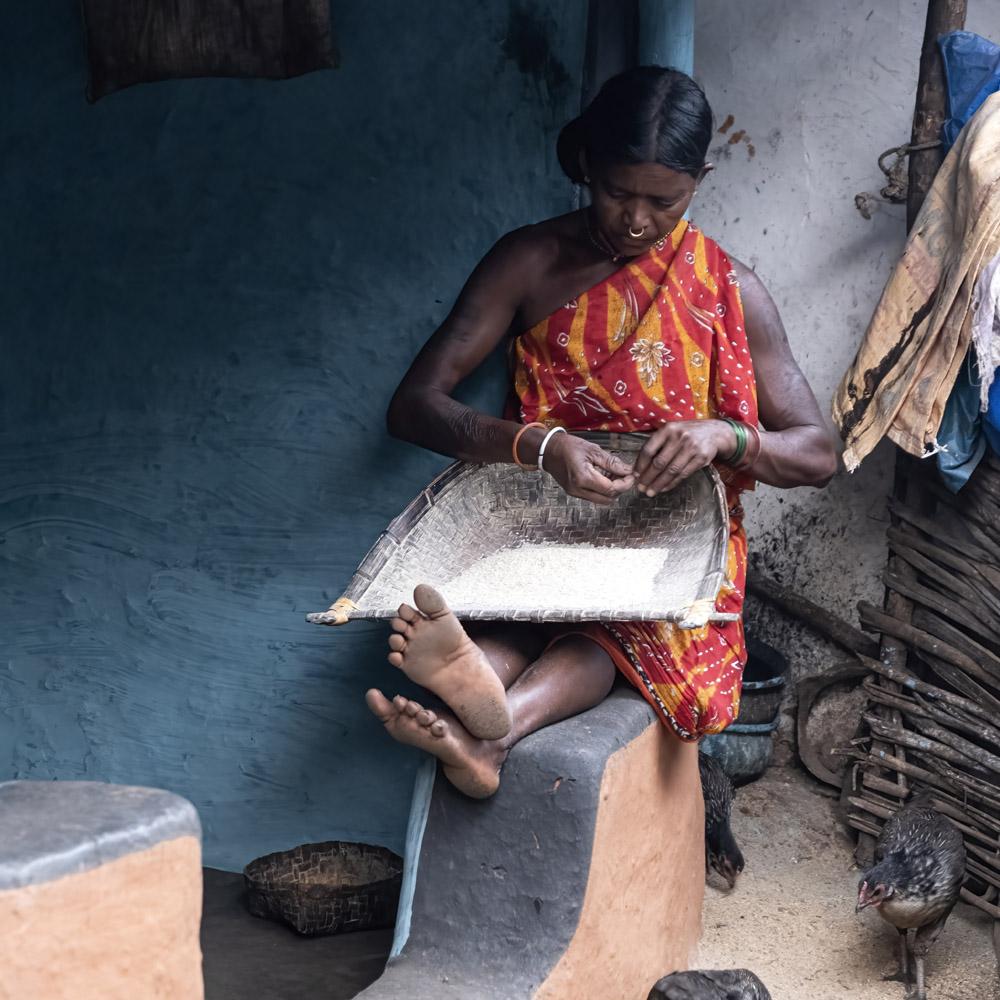 Vrouw Mali stam, Odisha, India