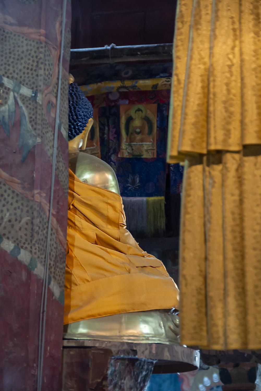 Beeld in tempel Ladakh