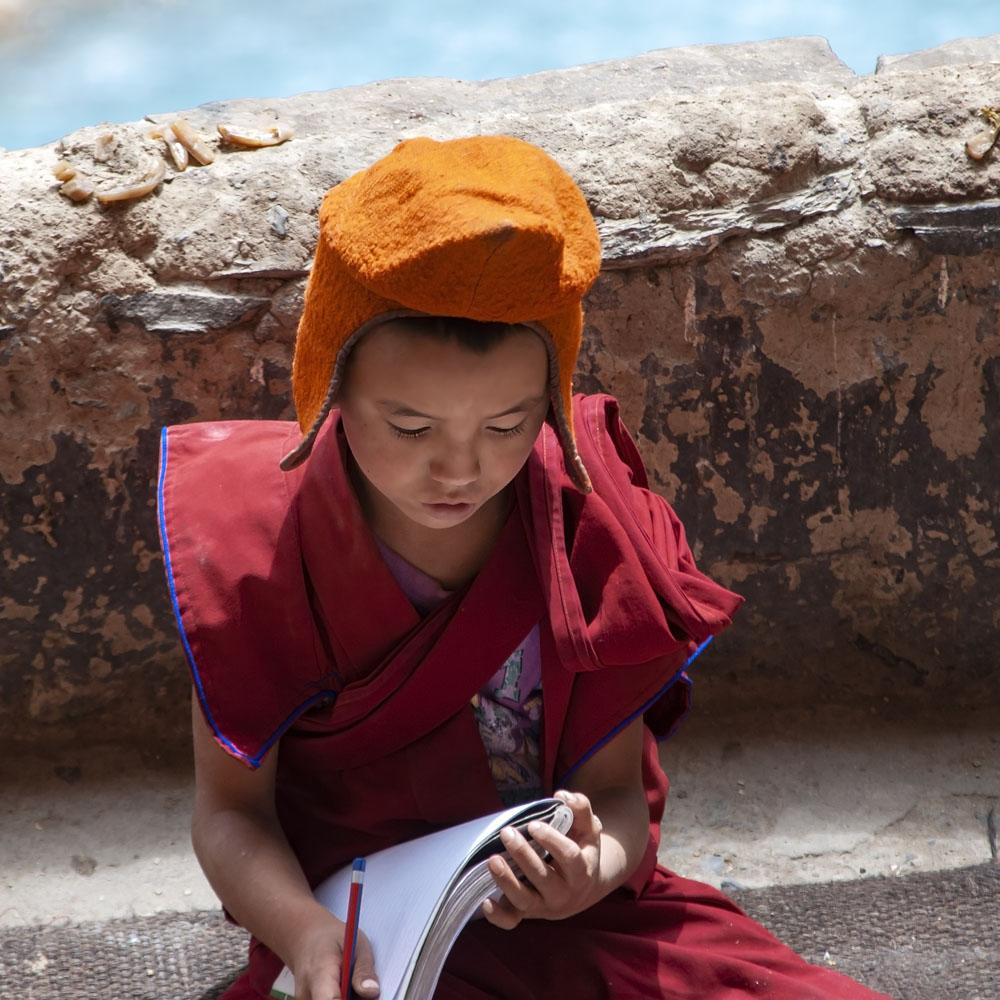 Kind monnik ik Phugtal klooster