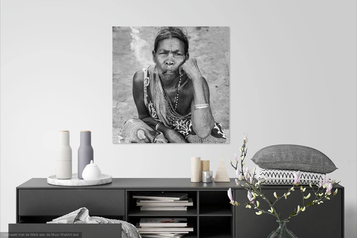 Vrouw met sigaar Odisha